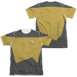 Star Trek - Engineering Uniform Costume Tee (Front/Back Print) Sublimated
