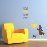 A Paris Spring Brown Wall Decal
