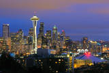 Seattle Skyline Photographic Print by Tom Schwabel