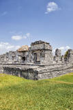 Mexico, Quintana Roo, Yucatan, Cancun, Old Ruins Photographic Print by Bryan Mullennix