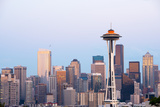 Space Needle and Downtown, Seattle, Washington State, USA Photographic Print by Jose Luis Stephens