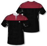 Youth: Star Trek Voyager - Command Uniform Costume Tee (Front/Back Print) Shirt