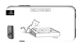 The New Yorker - Zen Litter Box - iPhone 6 Plus Case iPhone 6 Plus Case by Pat Byrnes