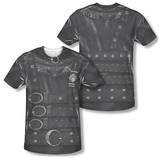 Edward Scissorhands - Edward Costume Tee (Front/Back Print) Sublimated