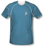 Star Trek - Science Uniform Costume Tee T-shirts