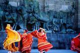 Performers in Front of Palacio De Justicia. Photographic Print by Ryan Fox