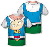 Family Guy - Stewie Carrier Costume Tee (Front/Back Print) T-Shirt