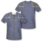 Star Trek - Enterprise Command Uniform Costume Tee (Front/Back Print) Sublimated