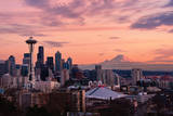 Seattle in Pink Photographic Print by Aaron Eakin