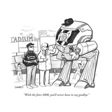 """With the Jeter 2000, you'll never have to say goodbye."" - New Yorker Cartoon Premium Giclee Print by Benjamin Schwartz"