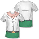 Family Guy - Peter Griffin Costume Tee (Front/Back Print) Sublimated