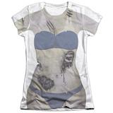 Juniors: Bikini Zombie Costume Tee T-Shirt
