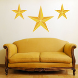 Nautical Stars Yellow Wall Decal