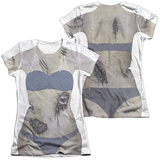 Juniors: Bikini Zombie Costume Tee (Front/Back Print) T-Shirt