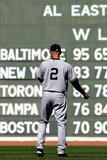 Sep 27, 2014: Boston, MA - New York Yankees v Boston Red Sox - Derek Jeter Photographic Print by  Elsa