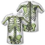 8-Bit Skeleton Costume Tee (Front/Back Print) T-Shirt