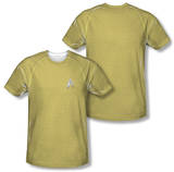Star Trek - Command Uniform Costume Tee (Front/Back Print) T-Shirt