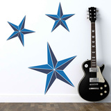 Nautical Stars Blue Wall Decal
