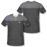 Star Trek - Engineering Uniform Costume Tee (Front/Back Print) T-shirts