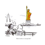 """Hard to believe it's already Fall."" - New Yorker Cartoon Premium Giclee Print by Benjamin Schwartz"