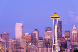 Space Needle and Downtown Skyline, Seattle, Washington, USA Photographic Print by Jose Luis Stephens