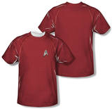 Star Trek - Engineering Uniform Costume Tee (Front/Back Print) Shirts