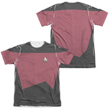 Star Trek - Command Uniform Costume Tee (Front/Back Print) T-shirts