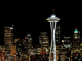 Seattle Skyline with Space Needle Photographic Print by Tim Ford