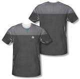 Star Trek - Science Uniform Costume Tee (Front/Back Print) T-shirts