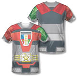 Voltron - Costume Tee (Front/Back Print) Sublimated