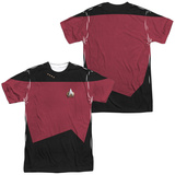 Star Trek - Command Uniform Costume Tee (Front/Back Print) Vêtement