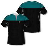 Star Trek Voyager - Command Uniform Costume Tee (Front/Back Print) Vêtements