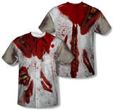 Ripped Zombie Costume Tee (Front/Back Print) Sublimated