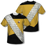 Star Trek - Worf Uniform Costume Tee (Front/Back Print) Shirts