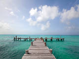 Pier Cancun Photographic Print by M Swiet Productions
