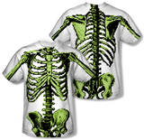 8-Bit Skeleton Costume Tee (Front/Back Print) T-shirts