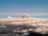 Mt Rainier Seattle Wa Photographic Print by Paul Newell