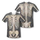 Skeleton Costume Tee (Front/Back Print) T-Shirt