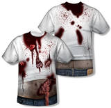 Zombie Slob Costume Tee (Front/Back Print) Sublimated