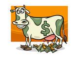 Cash Cow Saying Cartoon Illustration Art by Igor Zakowski