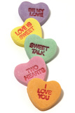 Valentine Candy Hearts Photographic Print by Daryl Solomon