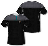 Star Trek - Science Uniform Costume Tee (Front/Back Print) T-Shirt