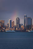 Rain Bow over Seattle Photographic Print by David Barnes