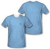 Star Trek - Science Uniform Costume Tee (Front/Back Print) Shirts