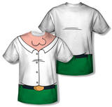 Youth: Family Guy - Peter Griffin Costume Tee (Front/Back Print) Vêtements