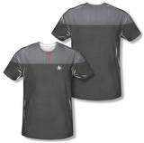 Star Trek - Command Uniform Costume Tee (Front/Back Print) Sublimated