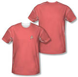 Star Trek - Red Shirt Costume Tee (Front/Back Print) Sublimated