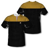Youth: Star Trek Voyager - Command Uniform Costume Tee (Front/Back Print) T-shirts