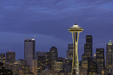 Space Needle Blue Hour Photographic Print by Adam Schmid