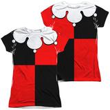 Juniors: Batman - Harley Quinn Costume Tee (Front/Back Print) Vêtements